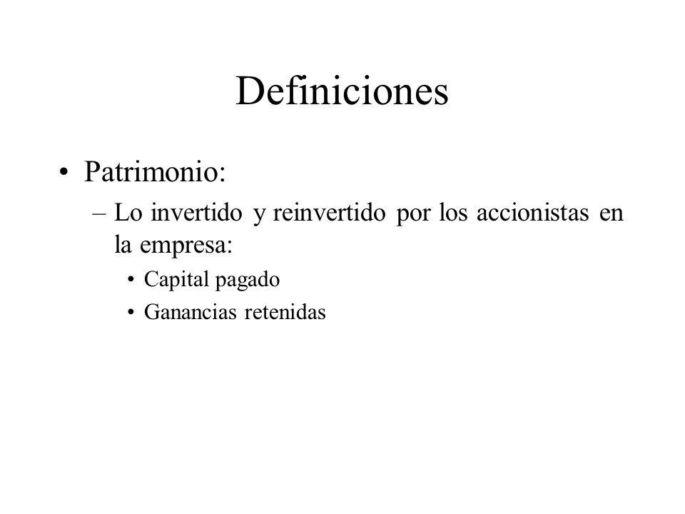Definiciones Patrimonio: