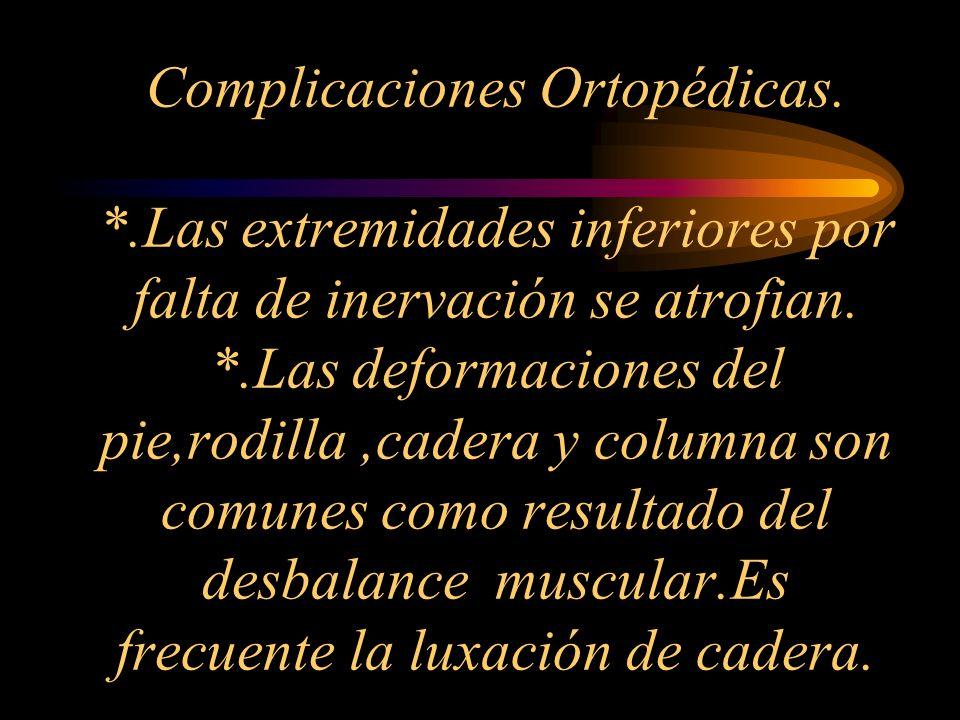 Complicaciones Ortopédicas