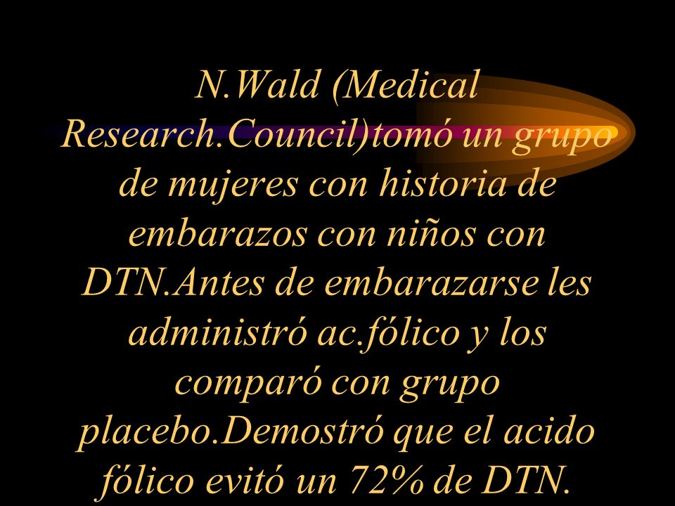 N. Wald (Medical Research