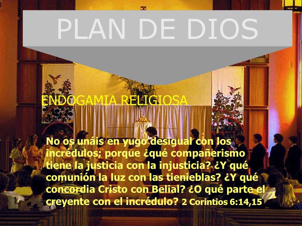 PLAN DE DIOS ENDOGAMIA RELIGIOSA