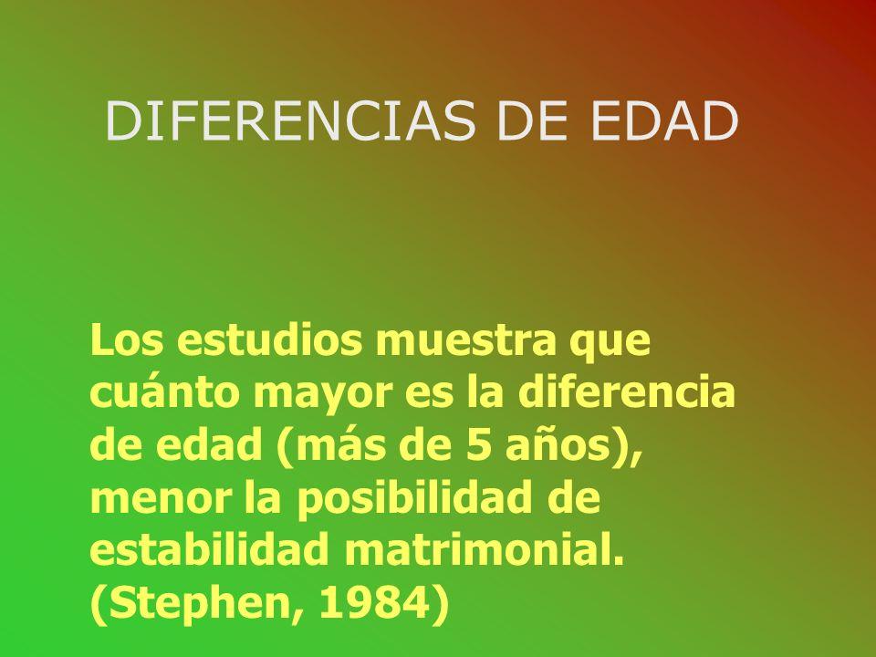 DIFERENCIAS DE EDAD