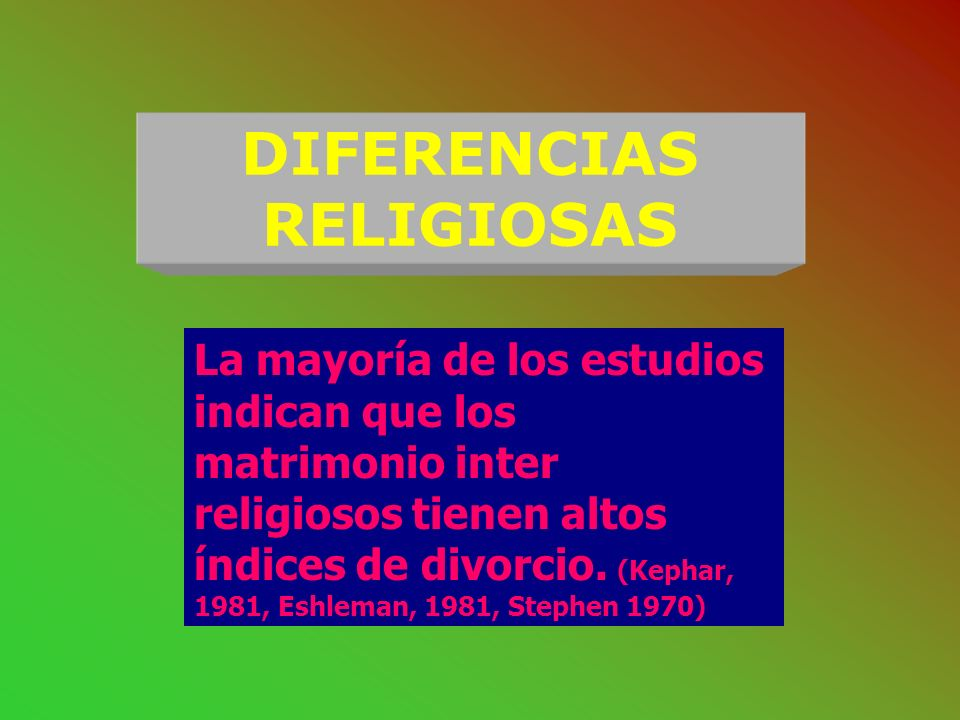 DIFERENCIAS RELIGIOSAS