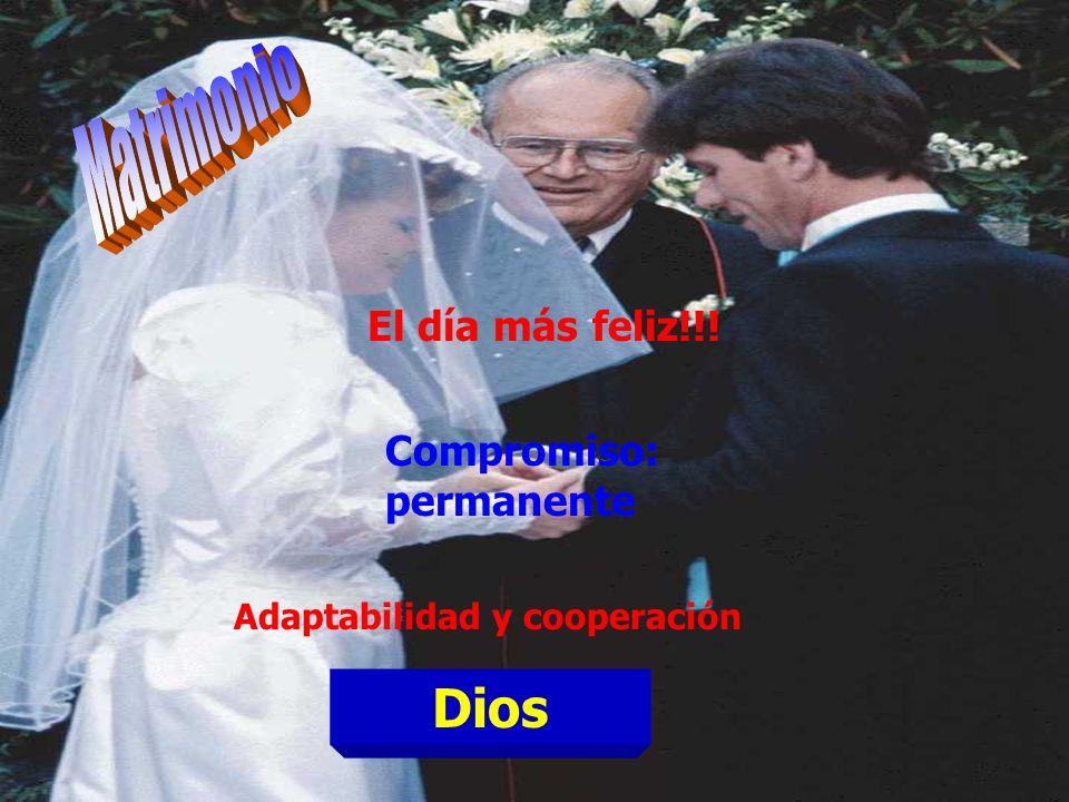Matrimonio Dios El día más feliz!!! Compromiso: permanente