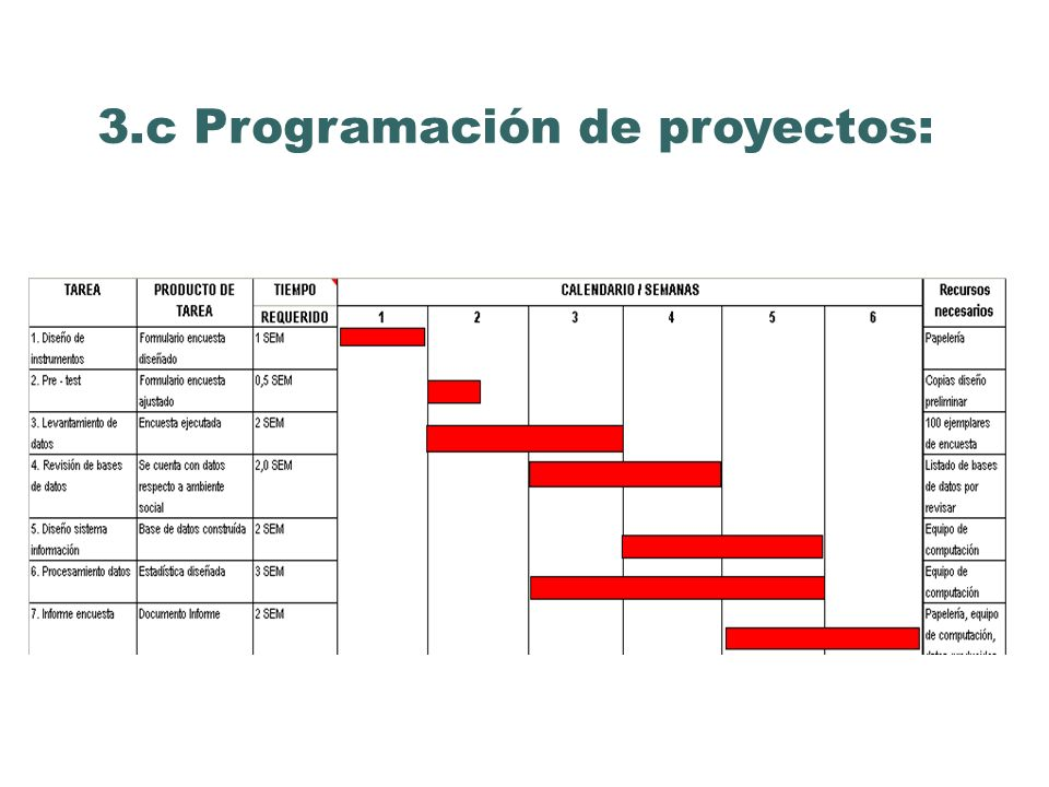 3.c Programación de proyectos:
