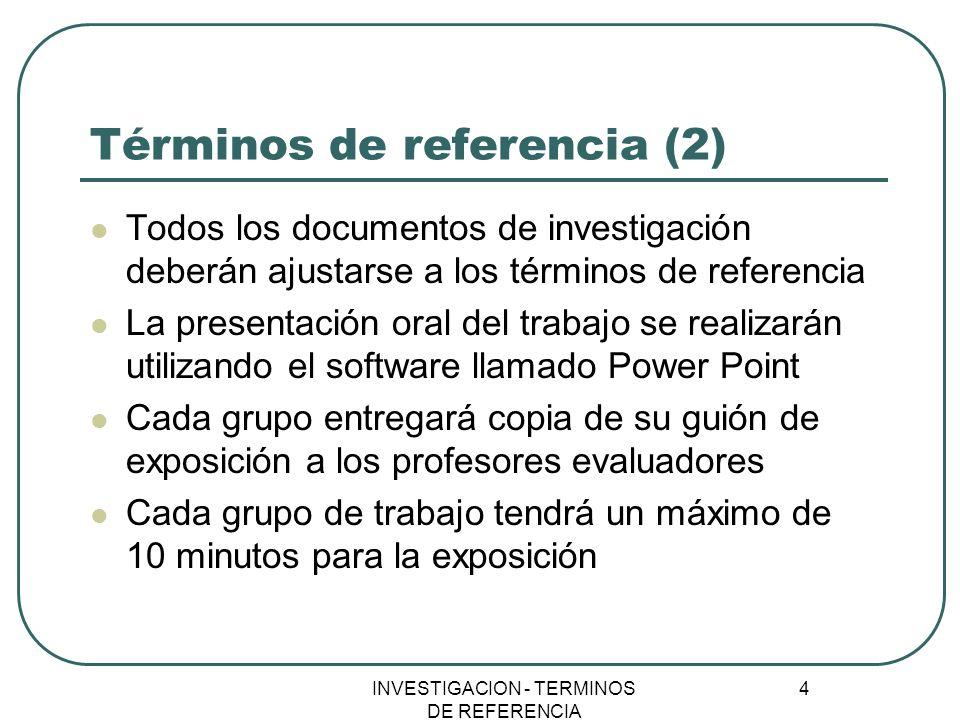Términos de referencia (2)