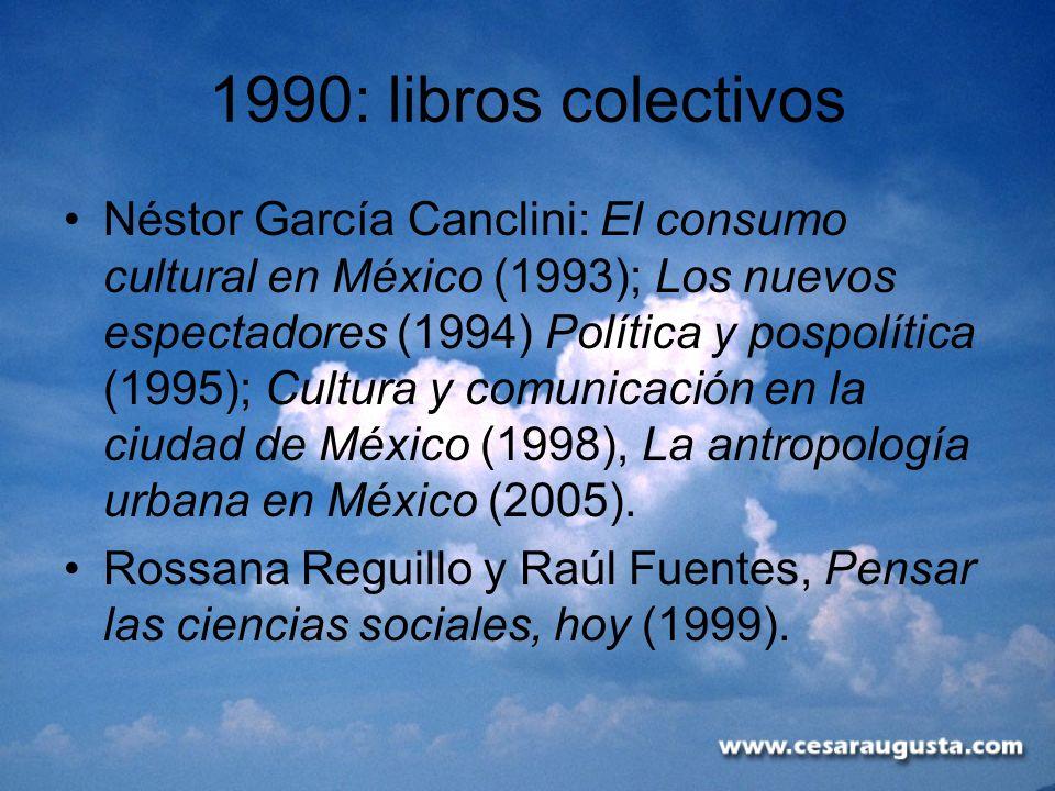 1990: libros colectivos