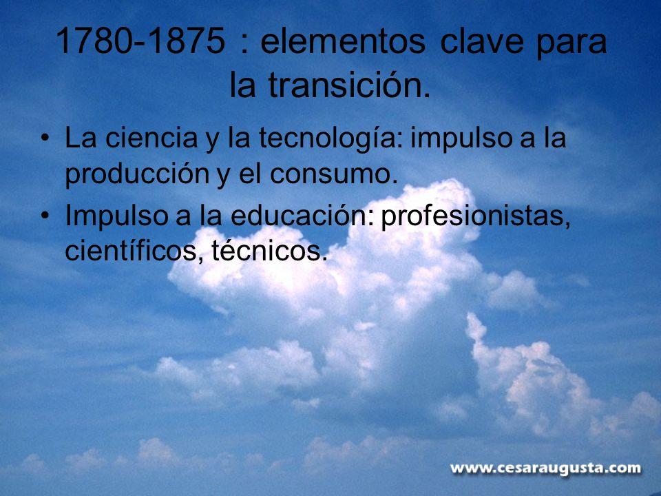1780-1875 : elementos clave para la transición.