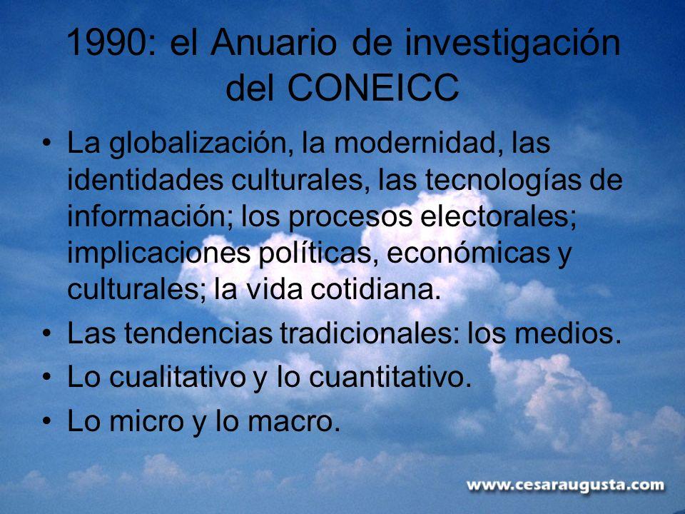 1990: el Anuario de investigación del CONEICC