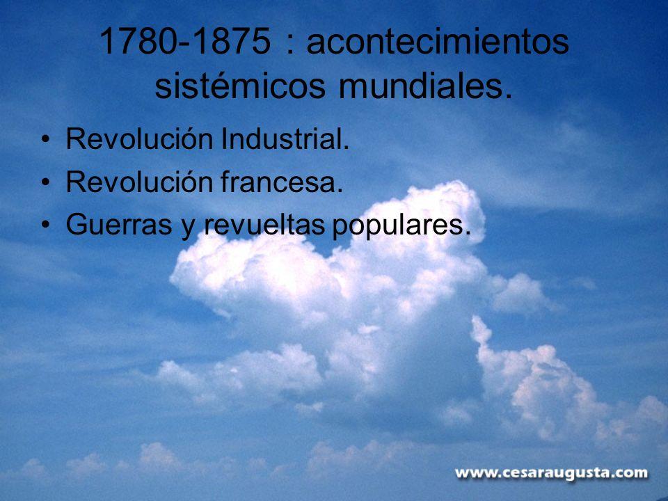 1780-1875 : acontecimientos sistémicos mundiales.