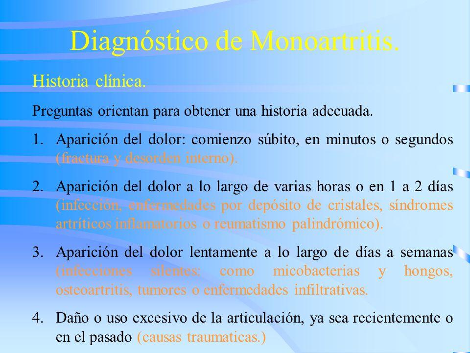 Diagnóstico de Monoartritis.