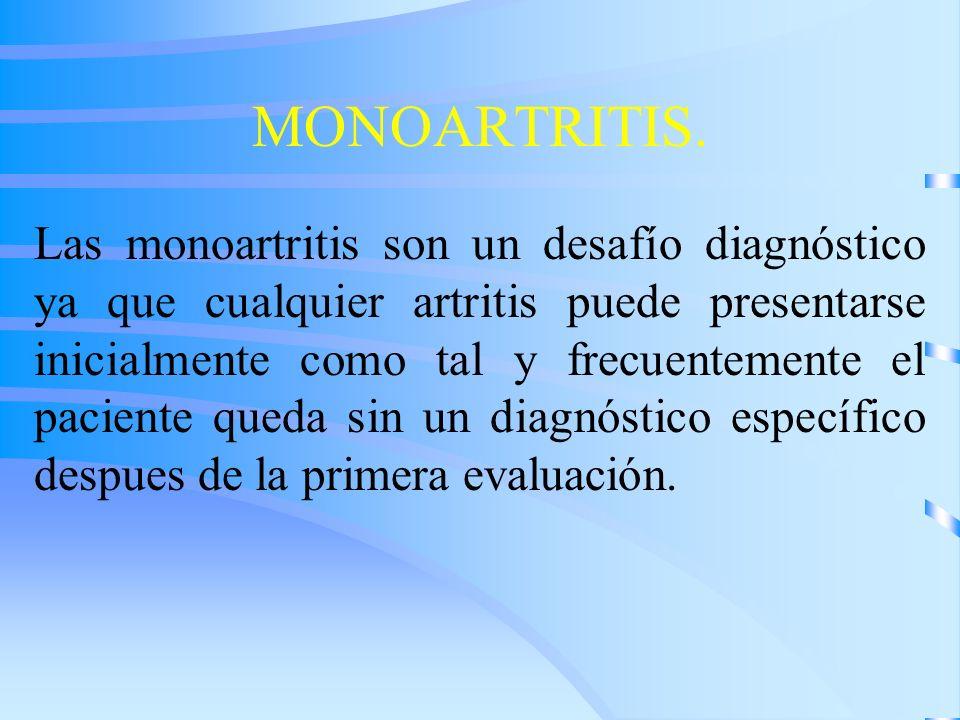 MONOARTRITIS.