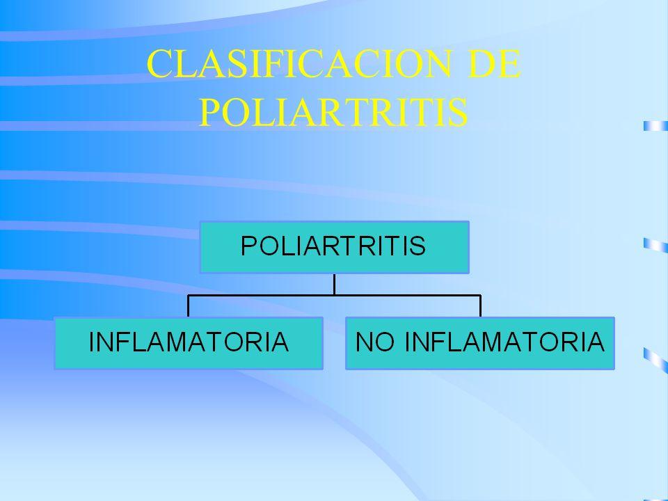 CLASIFICACION DE POLIARTRITIS