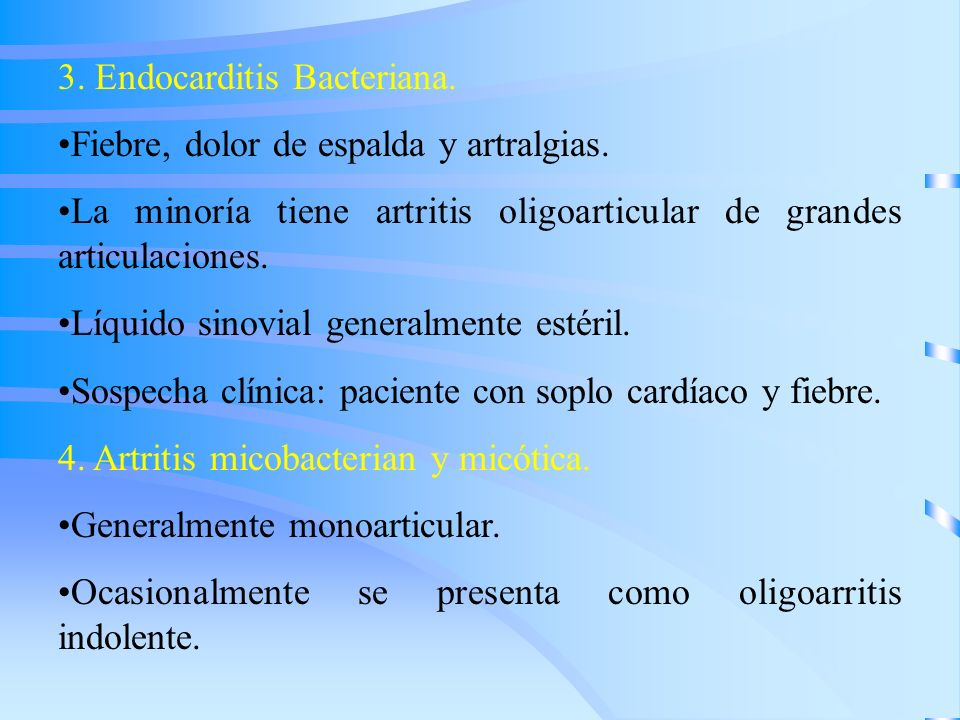 3. Endocarditis Bacteriana.