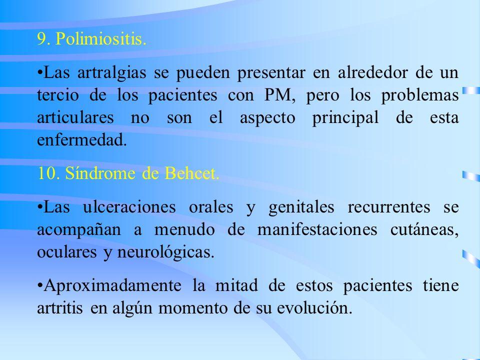 9. Polimiositis.