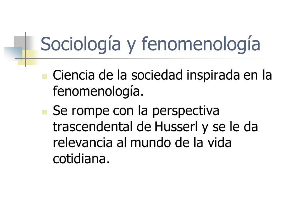 Sociología y fenomenología