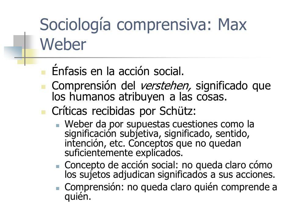 Sociología comprensiva: Max Weber