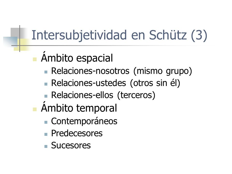 Intersubjetividad en Schütz (3)