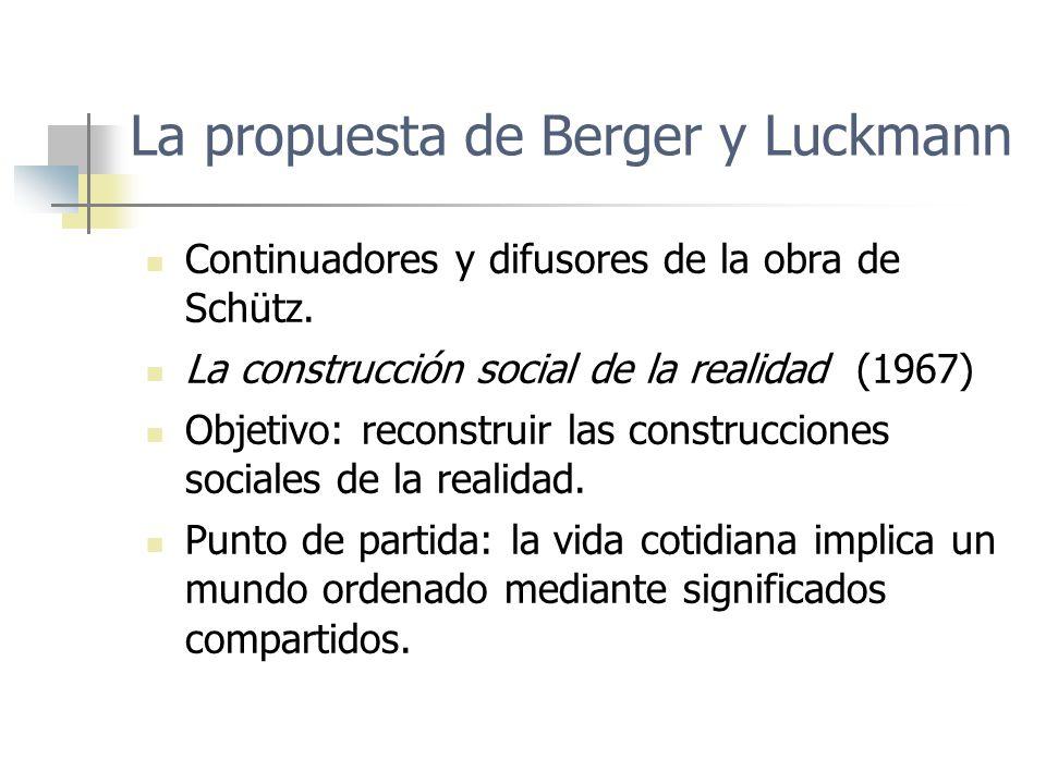 La propuesta de Berger y Luckmann
