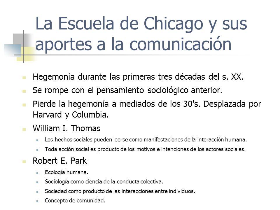 La Escuela de Chicago y sus aportes a la comunicación