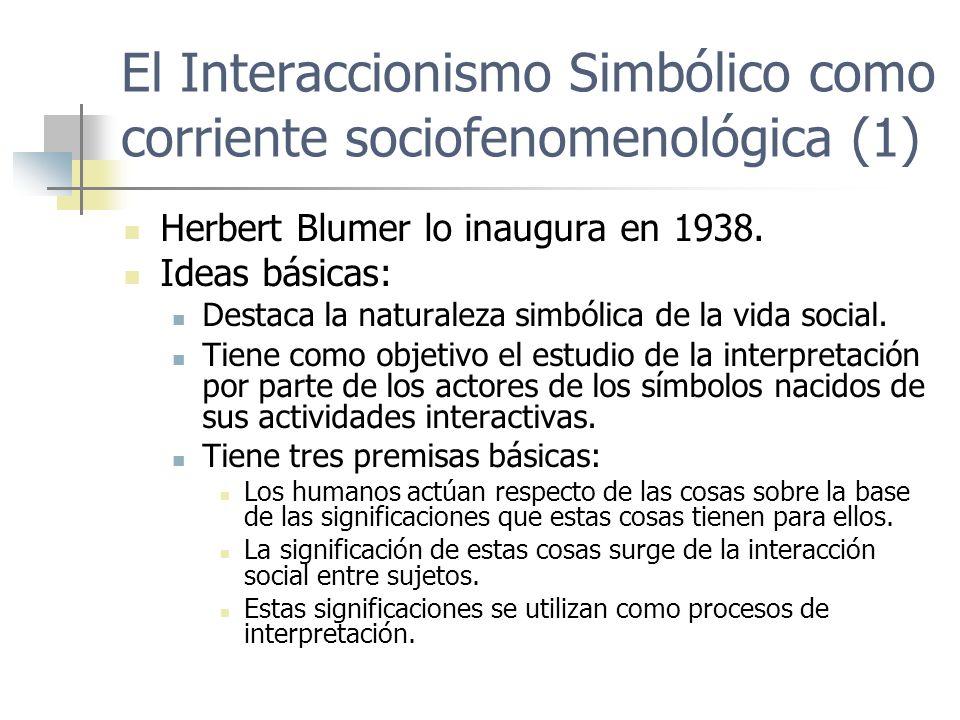 El Interaccionismo Simbólico como corriente sociofenomenológica (1)