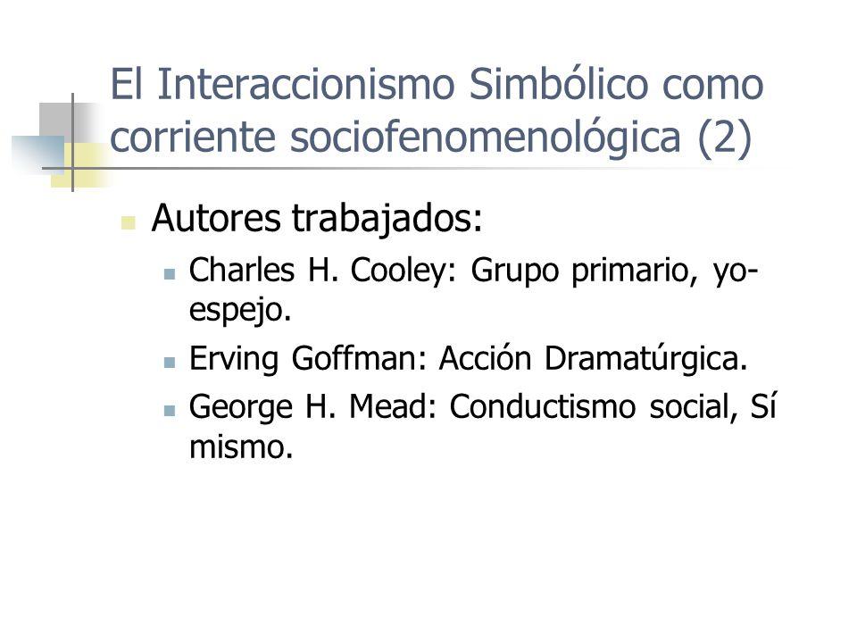 El Interaccionismo Simbólico como corriente sociofenomenológica (2)