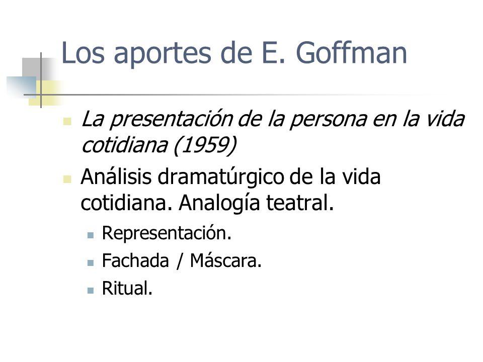 Los aportes de E. Goffman
