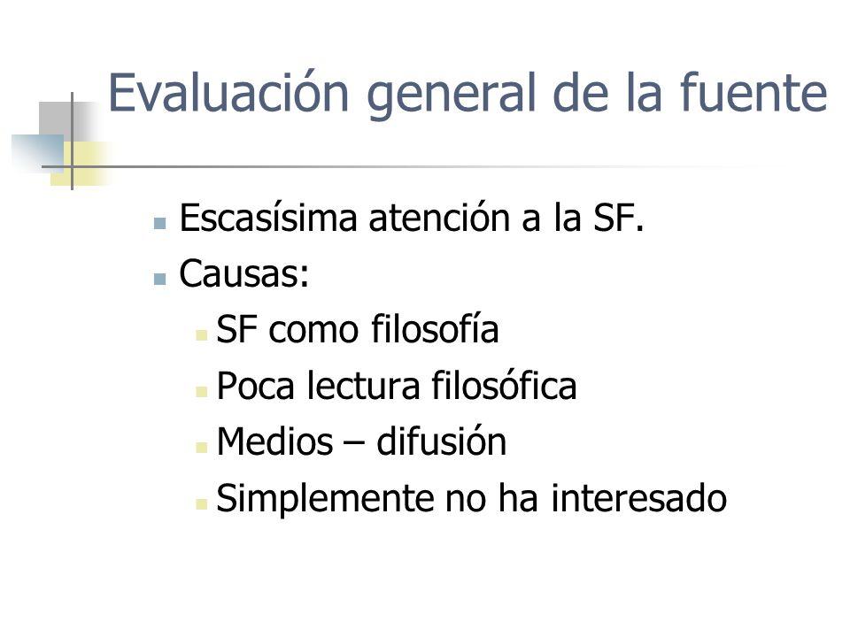Evaluación general de la fuente