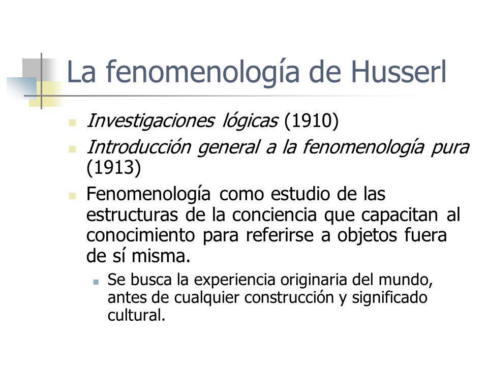 La fenomenología de Husserl
