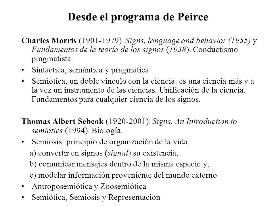 Desde el programa de Peirce