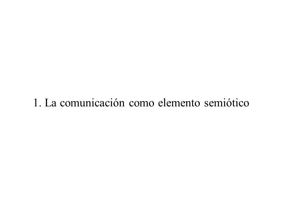 1. La comunicación como elemento semiótico