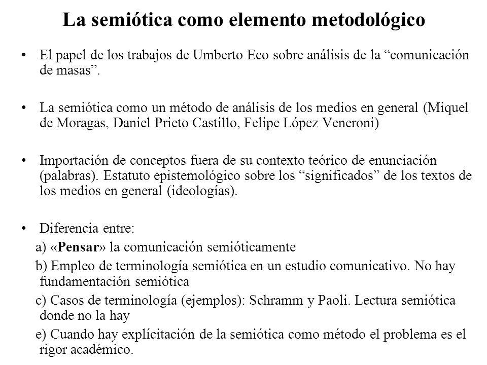 La semiótica como elemento metodológico