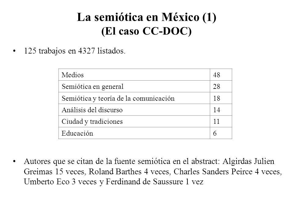 La semiótica en México (1) (El caso CC-DOC)