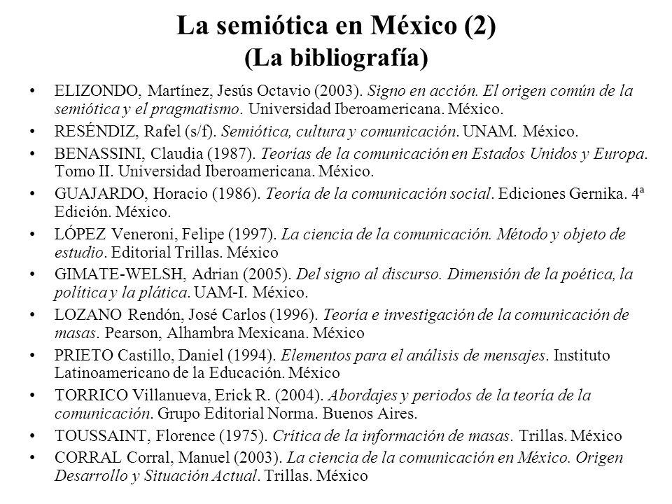 La semiótica en México (2) (La bibliografía)