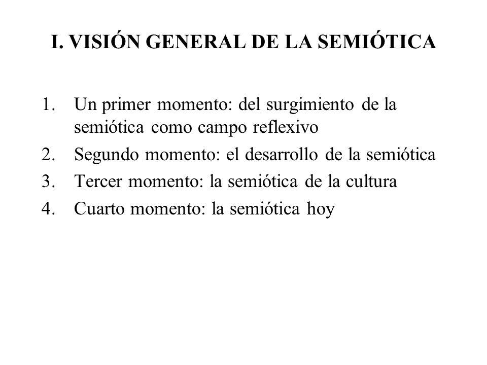 I. VISIÓN GENERAL DE LA SEMIÓTICA