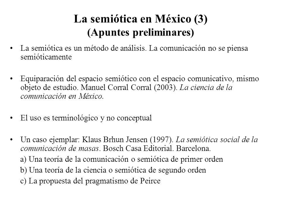La semiótica en México (3) (Apuntes preliminares)