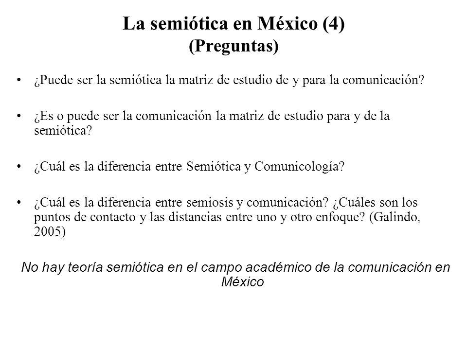 La semiótica en México (4) (Preguntas)