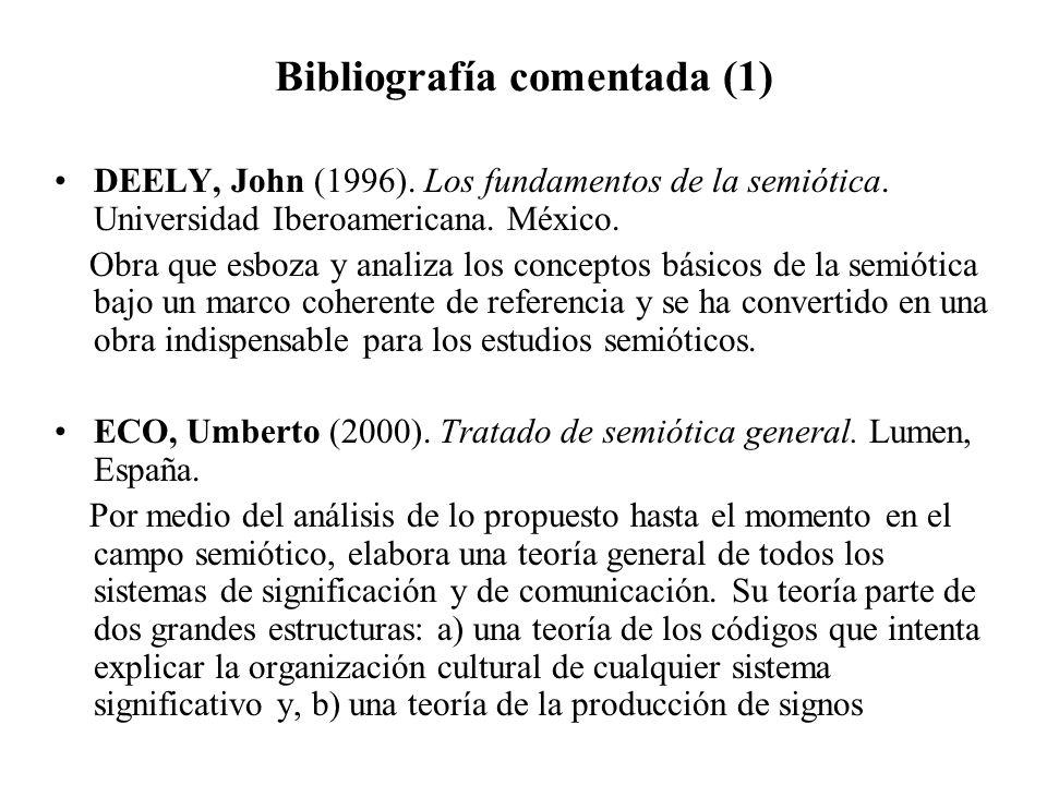 Bibliografía comentada (1)