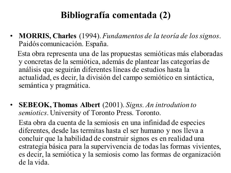 Bibliografía comentada (2)