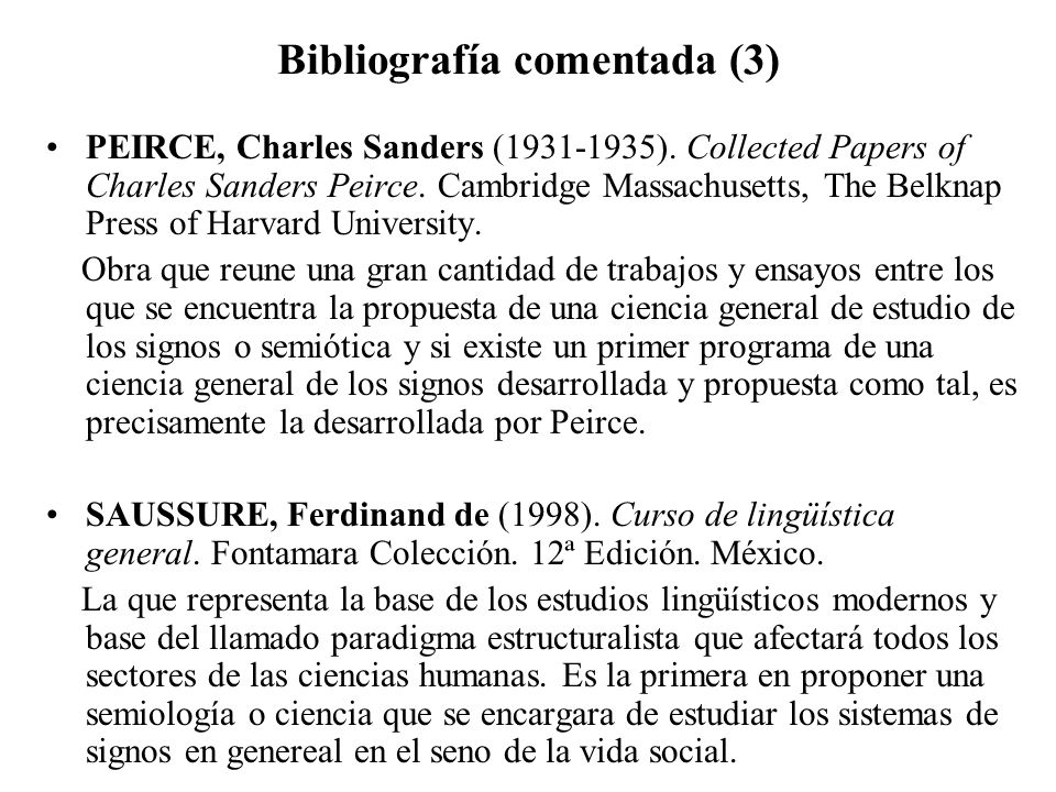 Bibliografía comentada (3)