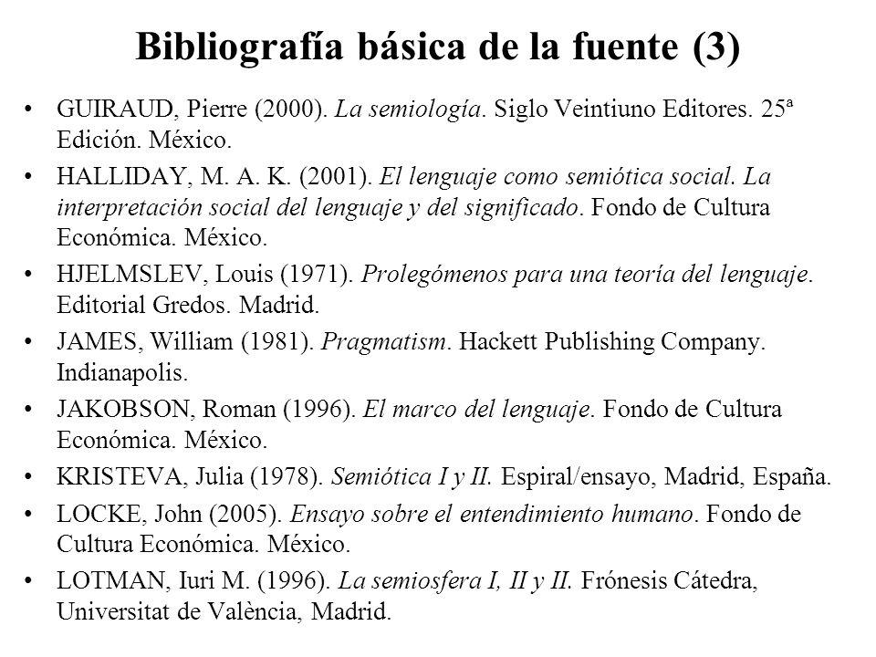 Bibliografía básica de la fuente (3)