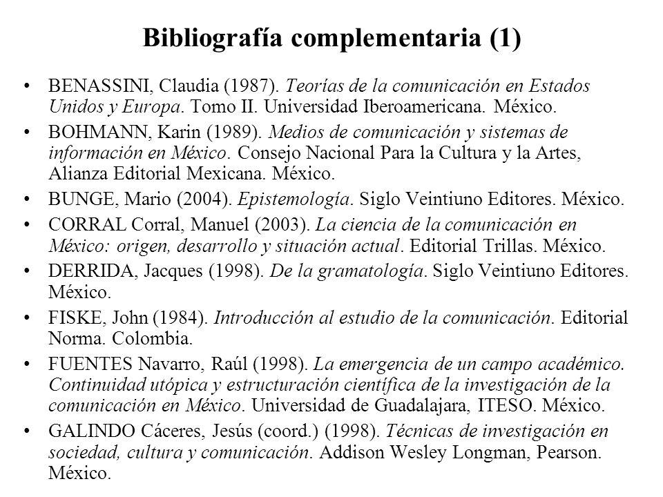 Bibliografía complementaria (1)