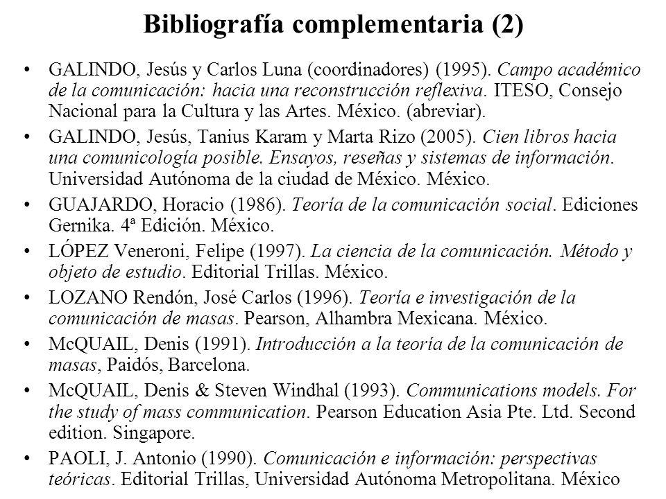 Bibliografía complementaria (2)