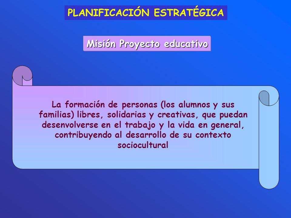 Misión Proyecto educativo