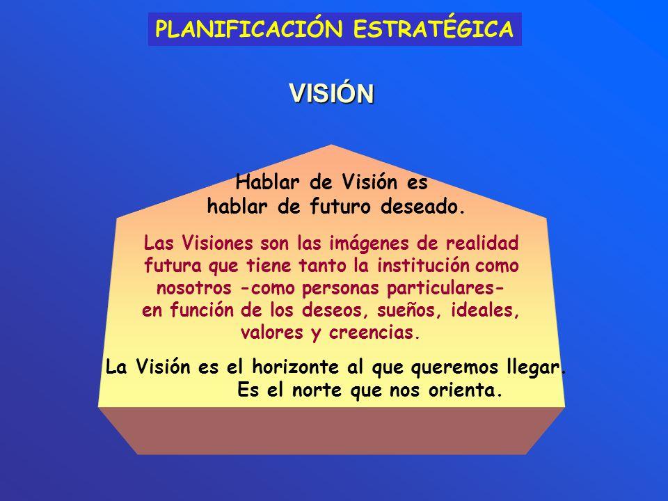 VISIÓN Hablar de Visión es hablar de futuro deseado.