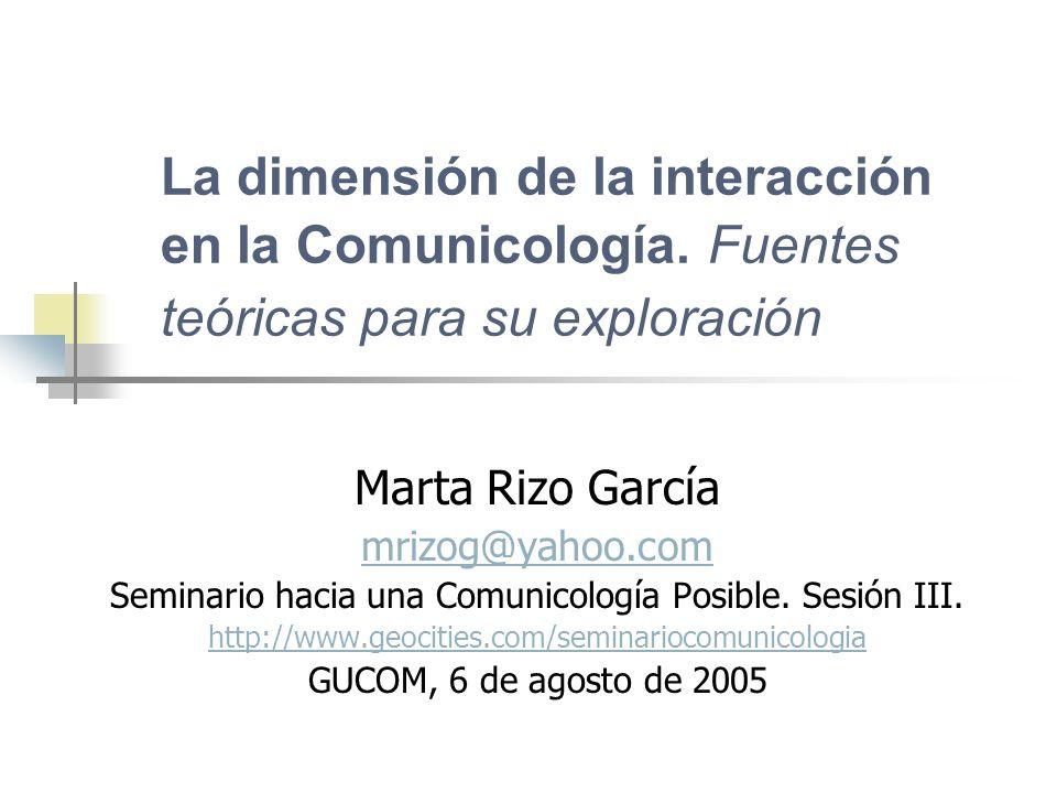Seminario hacia una Comunicología Posible. Sesión III.