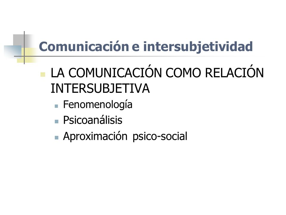 Comunicación e intersubjetividad
