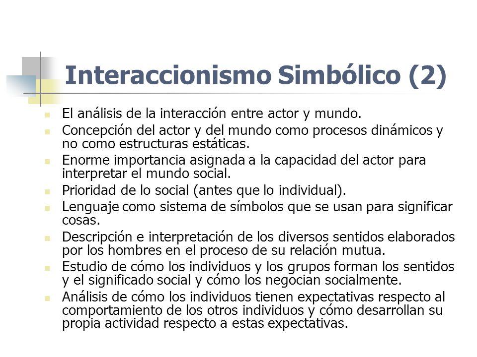 Interaccionismo Simbólico (2)
