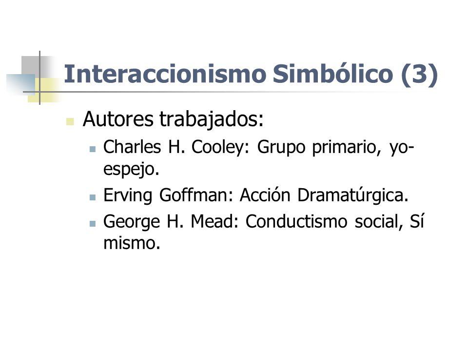 Interaccionismo Simbólico (3)