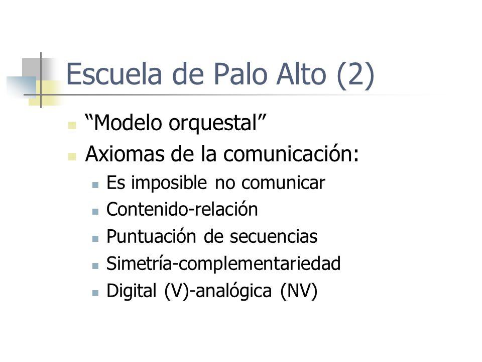 Escuela de Palo Alto (2) Modelo orquestal