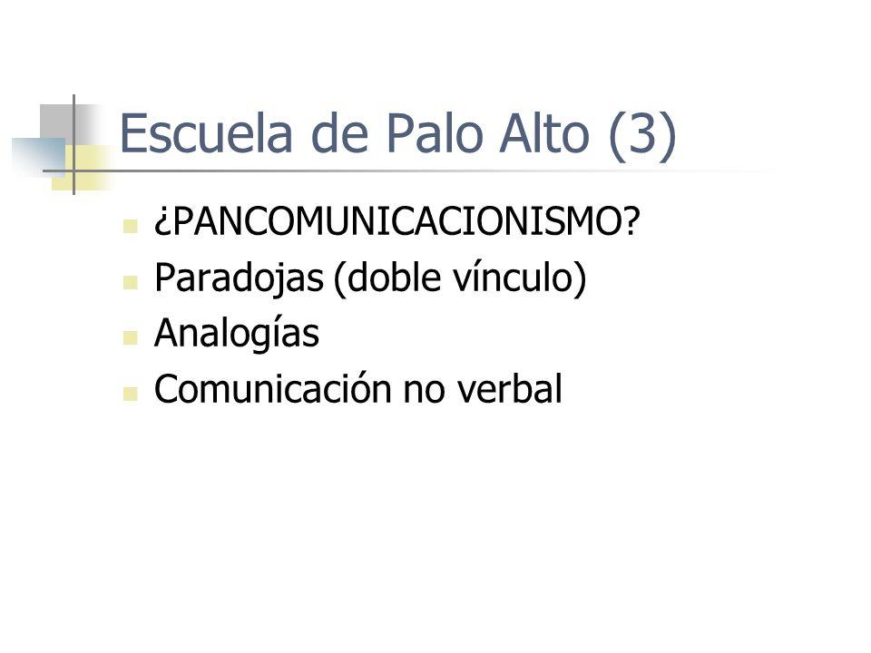 Escuela de Palo Alto (3) ¿PANCOMUNICACIONISMO